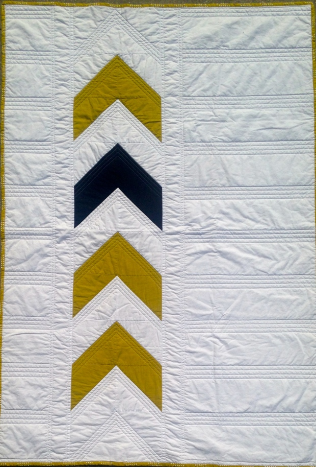 Black and Gold Arrow Quilt