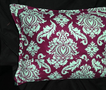 Pillow Backing with Damask Fabric