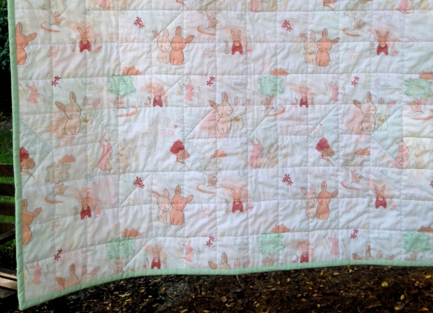 Littlest Bunny Quilt Backing