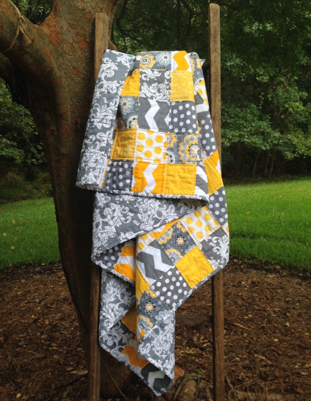 Yellow & Grey Quilt