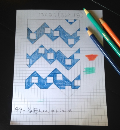 Sketch of a chevron quilt
