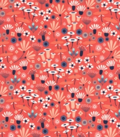 Wildwood in Wildflower by Elizabeth Crimson for Cloud9 Fabrics