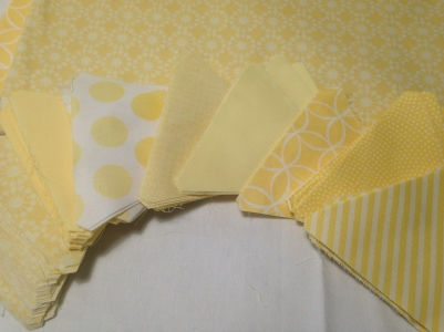 Yellow Triangle Quilt