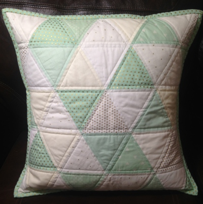 Triangle Quilted Pillow