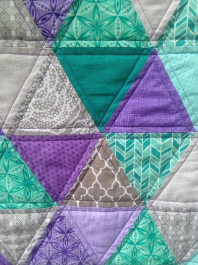 Purple Triangle Quilt