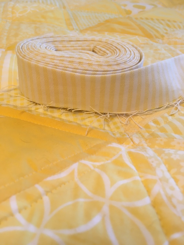 Binding The Yellow Triangle Quilt