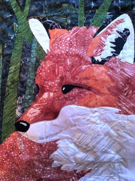 Details of Faith's Fox Quilt